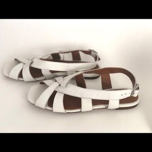 [NEW] TOPSHOP White Leather Sling back Sandals 7.5